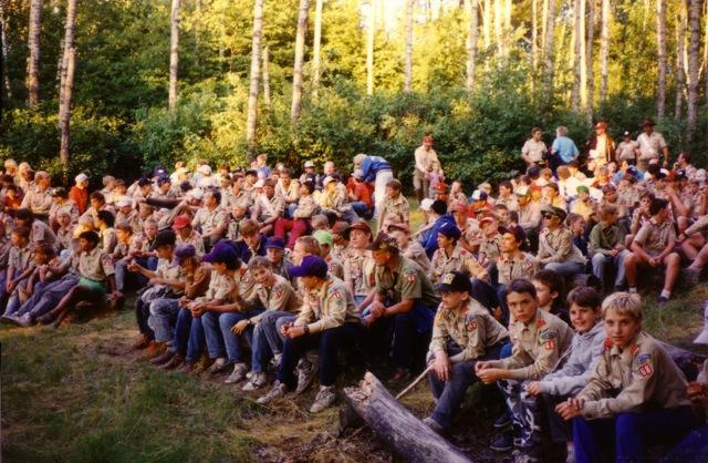 Gathering at Campfire