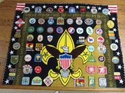 Boy Scout patch blanket