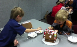 Cub Scout Gingerbread houses