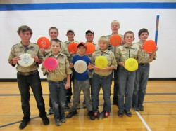 Boy Scouts disc golf