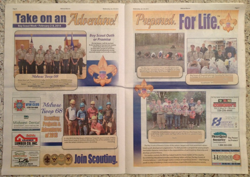 2014 Melrose Beacon Boy Scout Ad