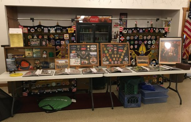 Boy Scout display.