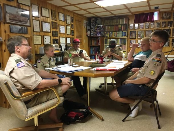 Patrol Leader Council planning.